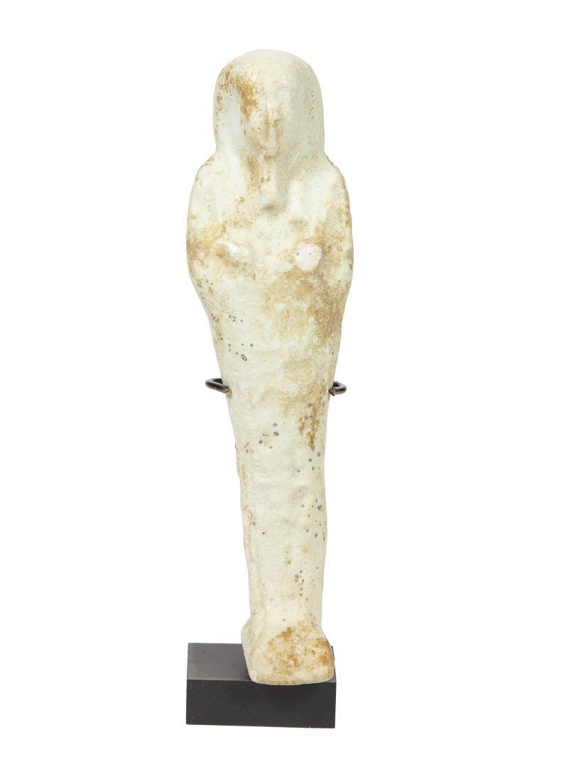 Ancient EGYPTIAN Faience Ushabti With Heiroglyph Late