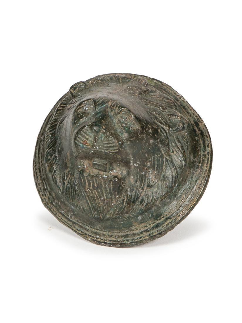 Ancient Roman Bronze Lion Ornament c.1st century AD.