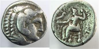 Ancient Greek Macedon Alexander Silver Tetradrachm