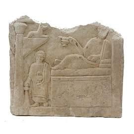 Ancient Egypto Roman Limestone Stele c.2nd century AD.