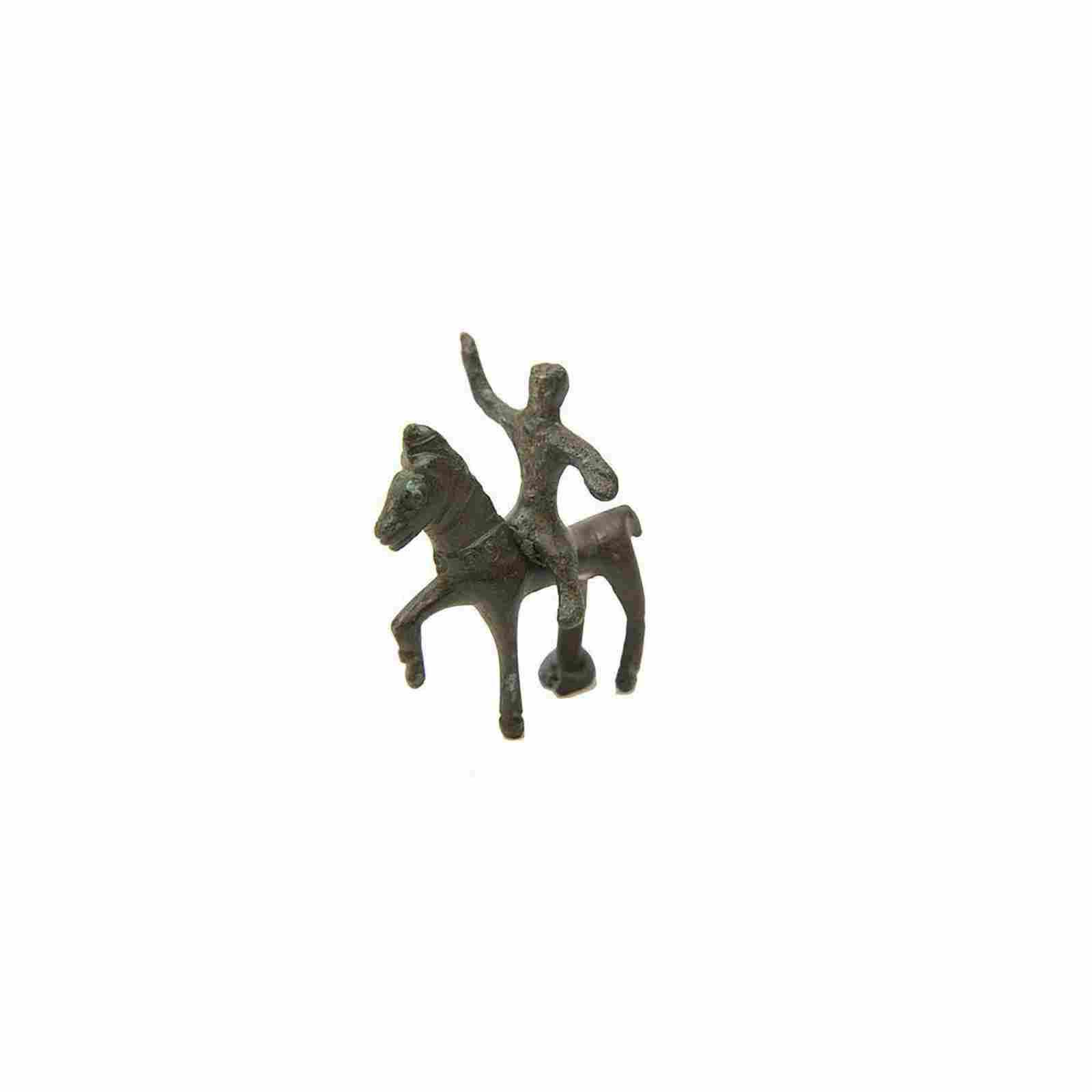 Ancient Roman Bronze Horse and Rider c.2nd century AD.