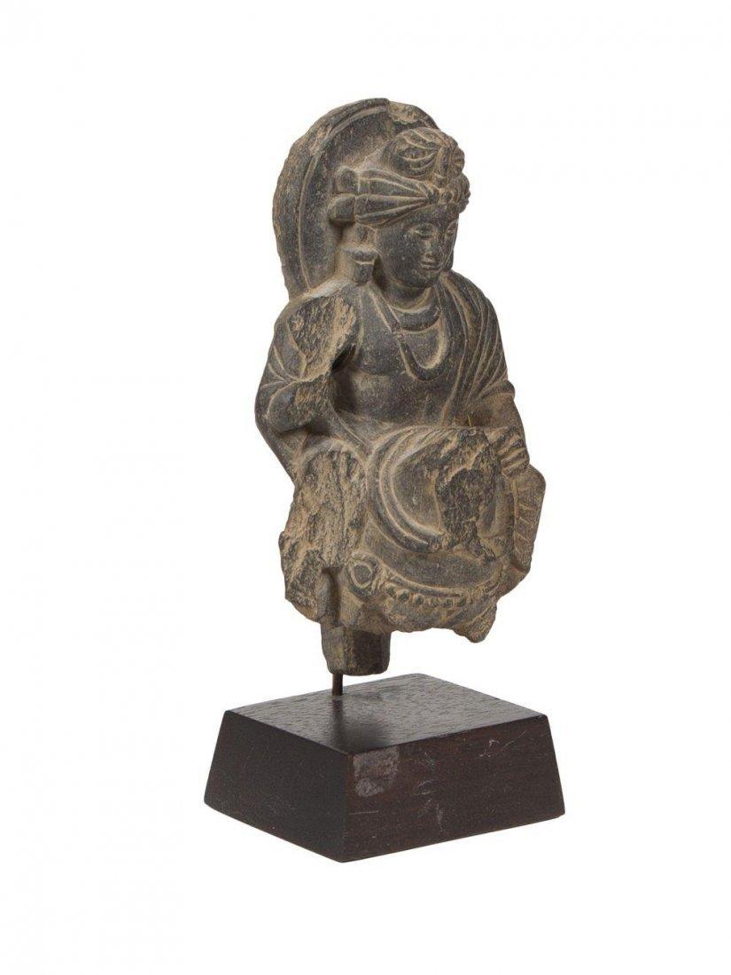 Ancient Gandhara Gray Schist Figure of Buddha c.2nd cen