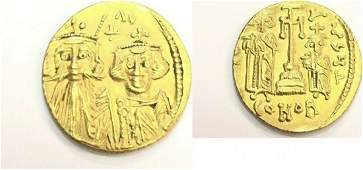 Ancient Byzantine Constans II Constantine IV coin