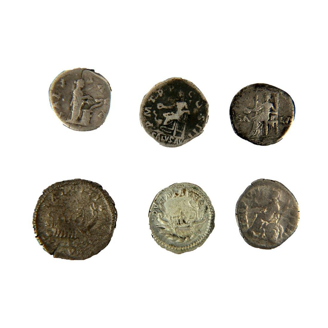 Lot of 6 Ancient Roman silver denarius