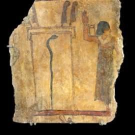 Ancient Egyptian Polychrome Relief New Kingdom