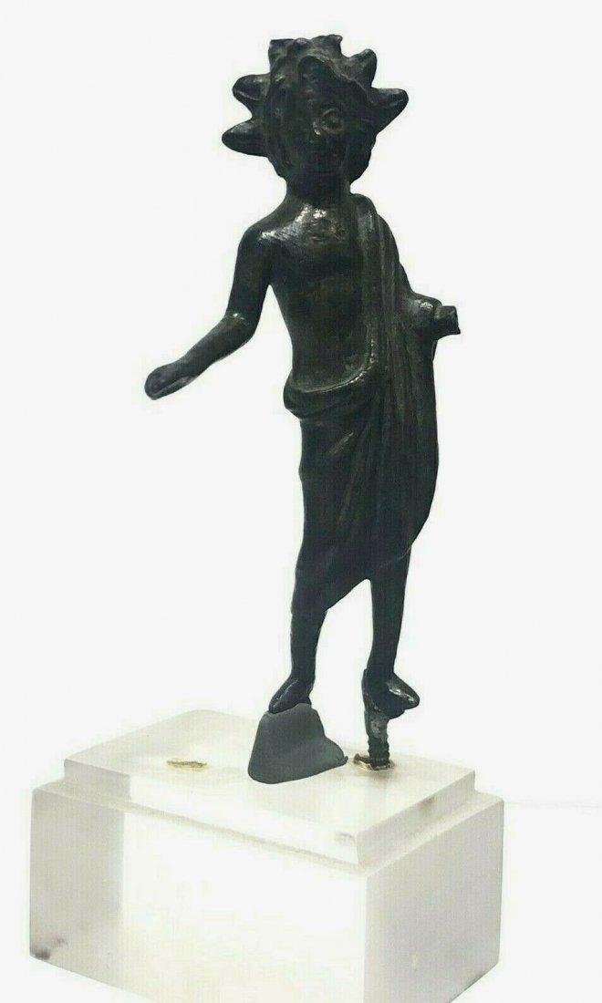 Ancient Roman Bronze figure Of Lar c.1st-2nd century