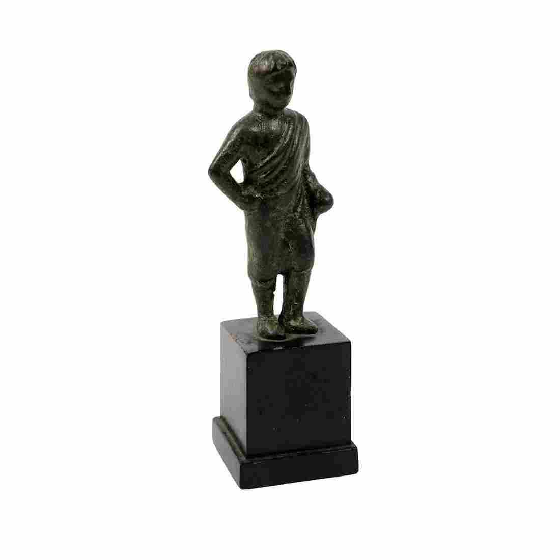 Ancient Roman Bronze figure of man c.1st-2nd century