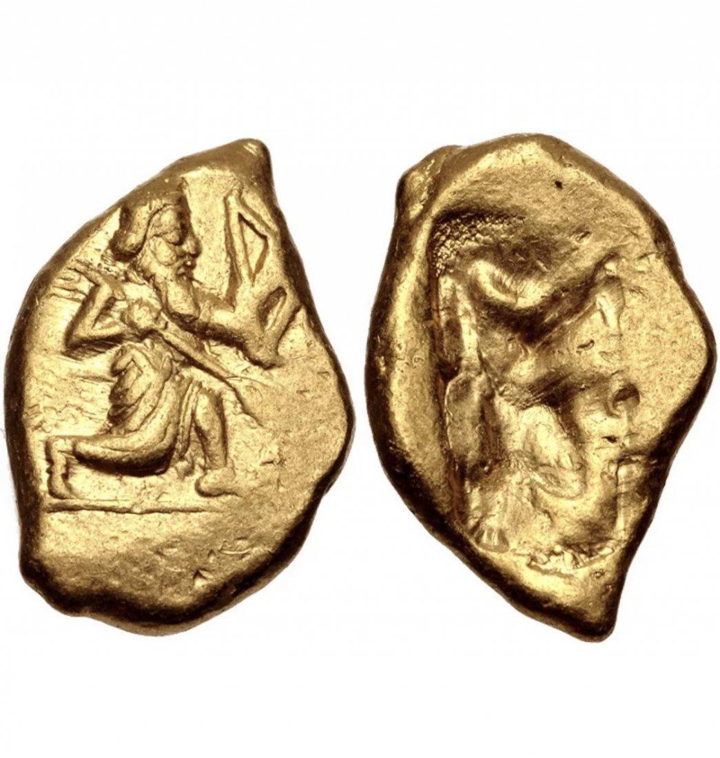 Ancient Achaemenid Empire. temp. Xerxes II gold Daric
