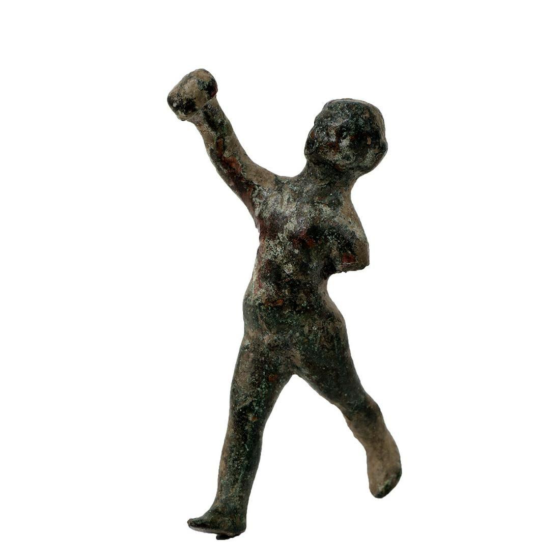 Ancient Roman bronze figure of Athlete c.1st-2nd