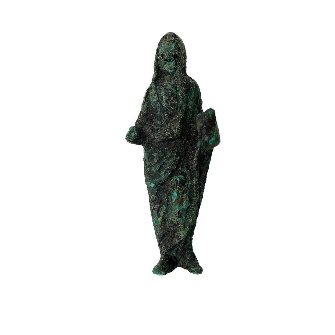 Ancient Roman bronze female figure c.1st-2nd century