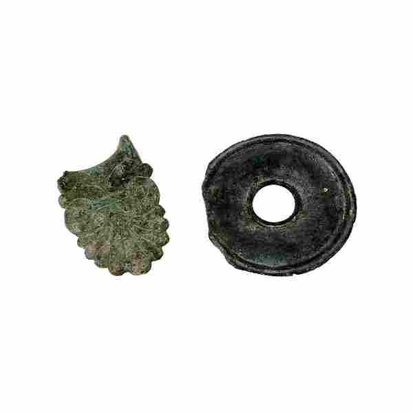 Lot of 2 Ancient Roman Bronze Ornaments c.1st-4th