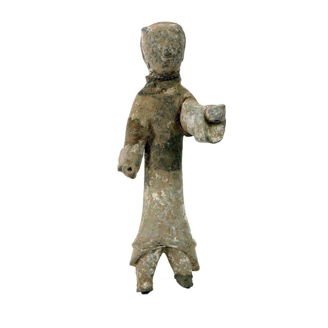 Ancient Chinese Terracotta Guard Figure - China - Early