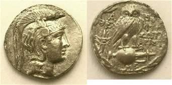 Ancient Greek ATTICA Athens C 13029 BC Tetradrachm
