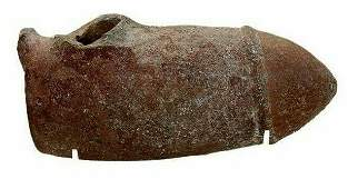 Ancient Greek Hollow Terracotta Vessel in form of