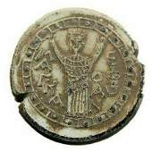 Eastern European Lead Seal with Christ c16th century