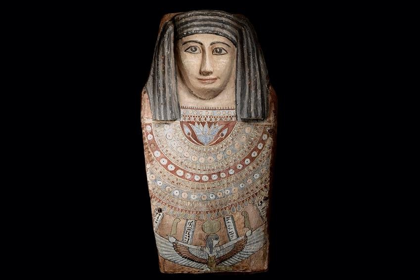 Ancient Egyptian Large Front Section of a Sarcophagus