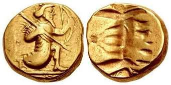 Seleukos.Satraps of Babylon, circa 328-311 BC. AV gold
