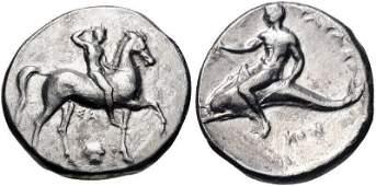 CALABRIA, Tarentum. Circa 302 BC. AR Nomos