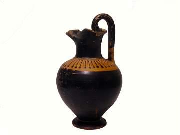 Anient Greek Attica Oinochoe Circa 500-450 BCE.
