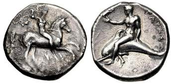 CALABRIA Tarentum Circa 280 BC AR Nomos