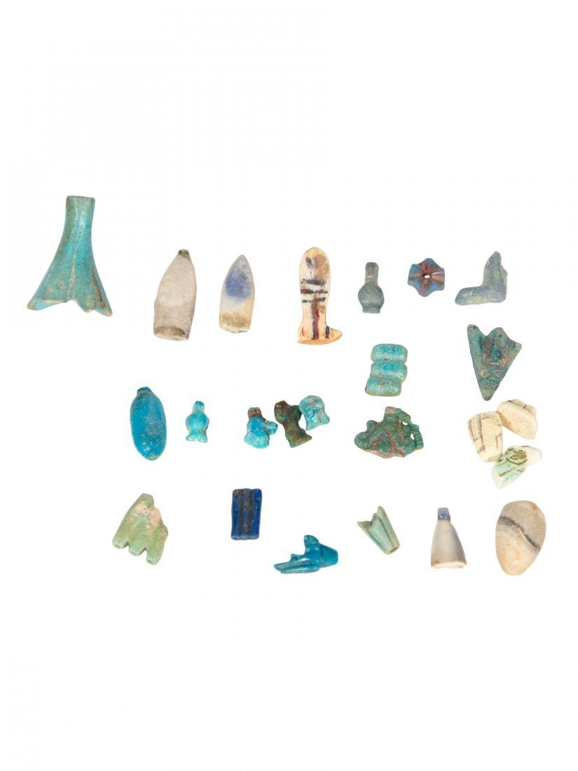 Lot 24 Ancient Egyptian Amarna Period Faience Amulets