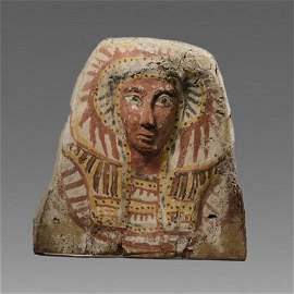 Ancient Egyptian Upper Half Sarcophaqus Lid c.664-332