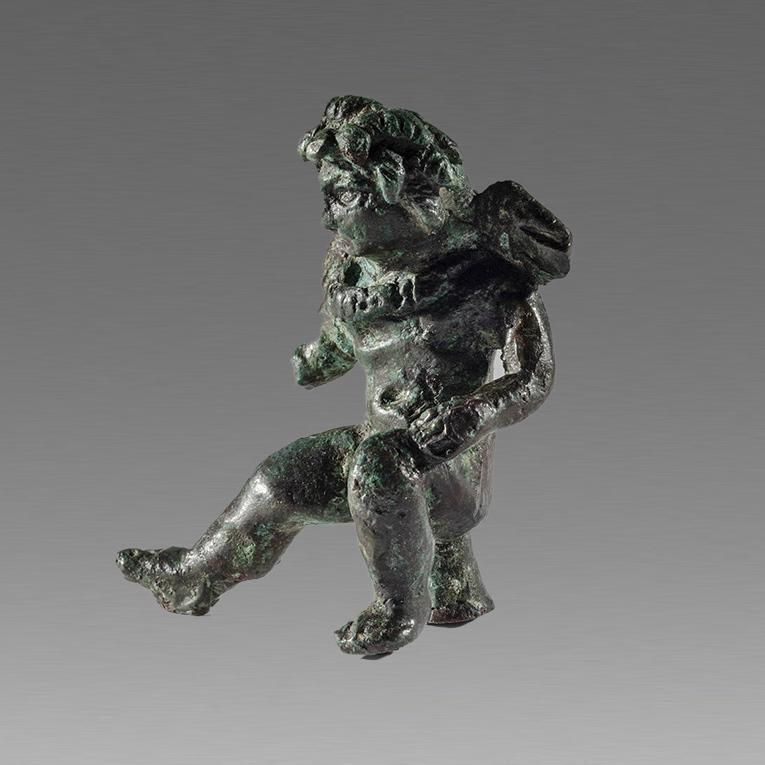 Ancient Roman Bronze Figure of Eros c.1st-2nd cent AD.