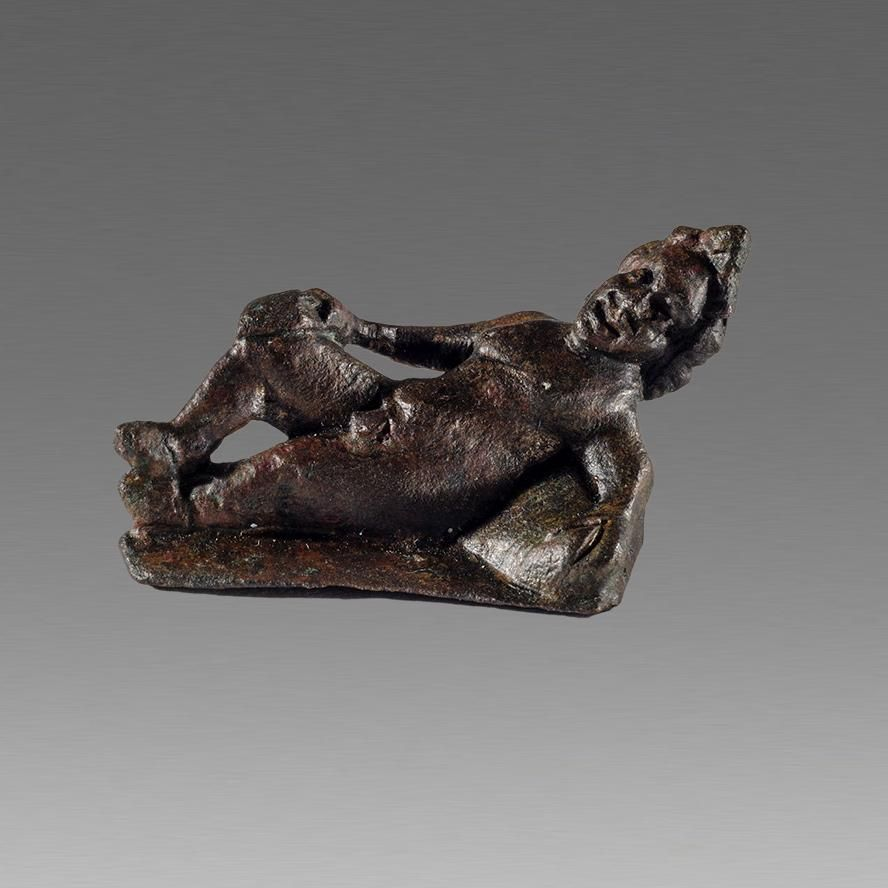 Ancient Roman Bronze Reclining Athlete figure c.2nd