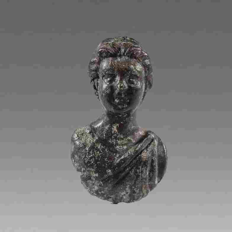 Ancient Roman Bronze Bust of Woman c.2nd-3rd cent AD.