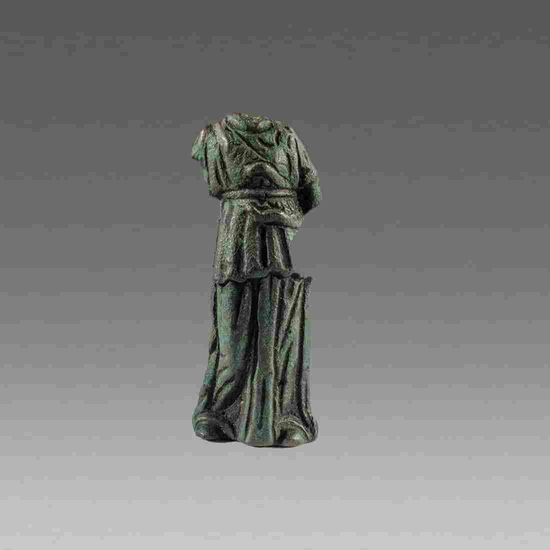 Ancient Roman Bronze Minerva Torso c.1st cent AD.
