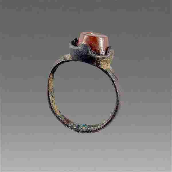 Ancient Roman Bronze Ring with intaglio c.2nd-4th cent