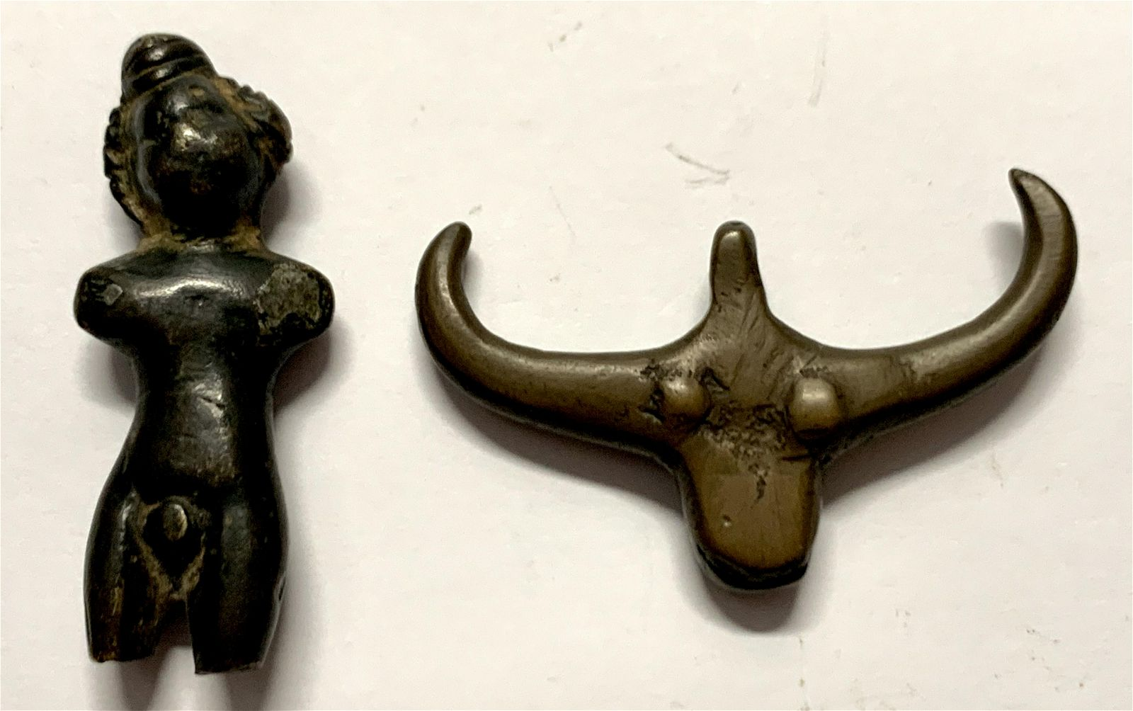 Lot of 2 Ancient Roman Bronze figure, Bull c.1st-2nd