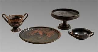 Lot of 4 Ancient Greek magna graecia Apulian Pottery