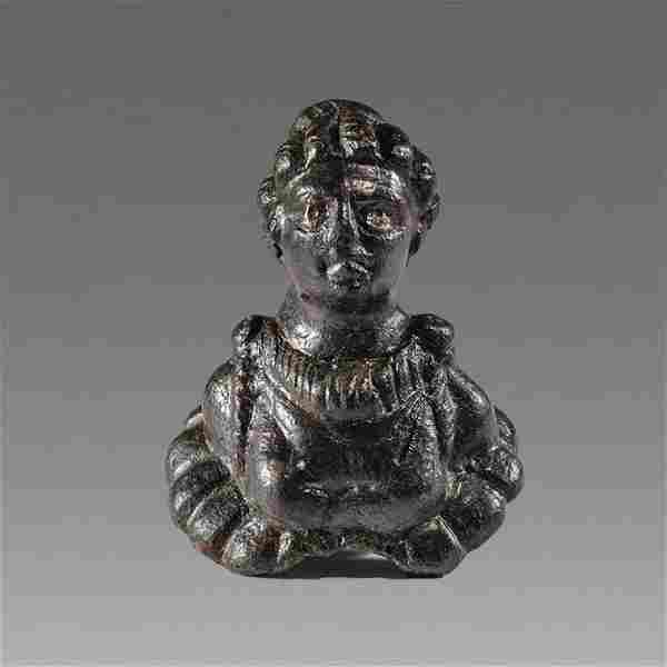 Ancient Roman Bronze Bust of noble Woman c.2nd cent AD.