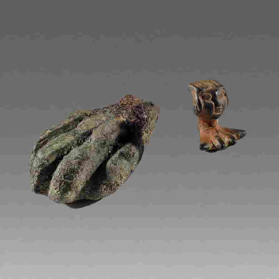Lot of 2 Ancient Roman Bronze Foot c.2nd cent AD.