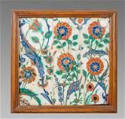 Ottoman Iznik Ceramic Tile c.17th century. Sothebys.