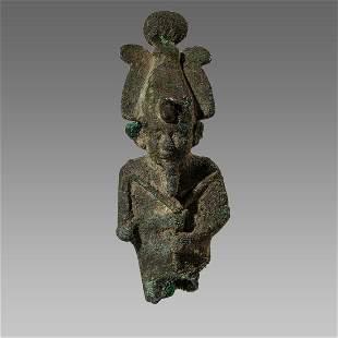 Ancient Egyptian Bronze Osiris Figure c.664-30 BCE.