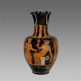 Ancient Greek Apulian Red-figured Trefoil Oinochoe