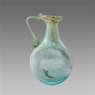 Ancient Roman Glass Flask c.2nd-4th century AD.