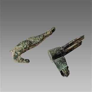 Lot of 2 English Bronze Padlock c.13th century AD.