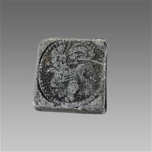England Silver weight with lion c.17th century AD.