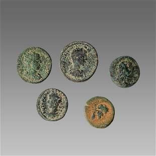 Lot of 4 Ancient Roman Bronze Coins c.3rd century AD.