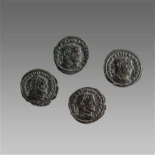 Lot of  Ancient Roman Bronze Folises Coins c.3rd