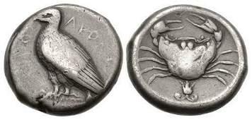 SICILY, Akragas. Circa 465/0–445/0 BC. AR Tetradrachm
