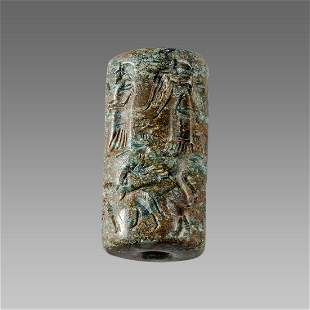 Near Eastern Style Cylinder Seal with figures and