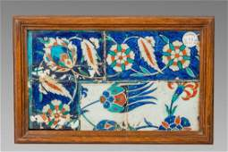 Ottoman Iznik Ceramic Tile c17th century Sothebys