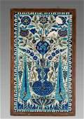 A Set of Syrian Ceramic Tiles c17th century Christies