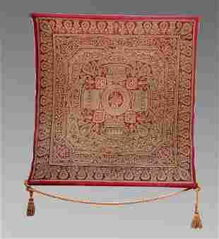 19th century Turkish Ottoman embroidered Textile Panel.