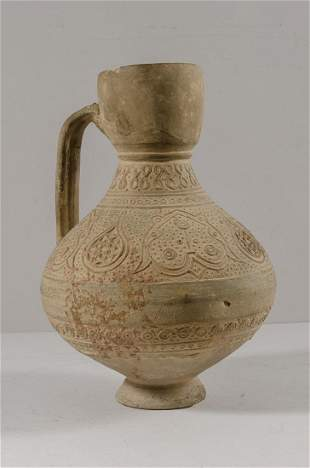 Islamic Seljuk Terracotta Jug c.10th-12th century AD.