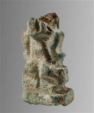 Ancient EGYPTIAN Faience Uraeus Amulet Late Dynastic